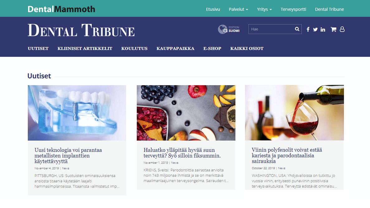 Dental Tribunen Suomen sivusto on avautunut